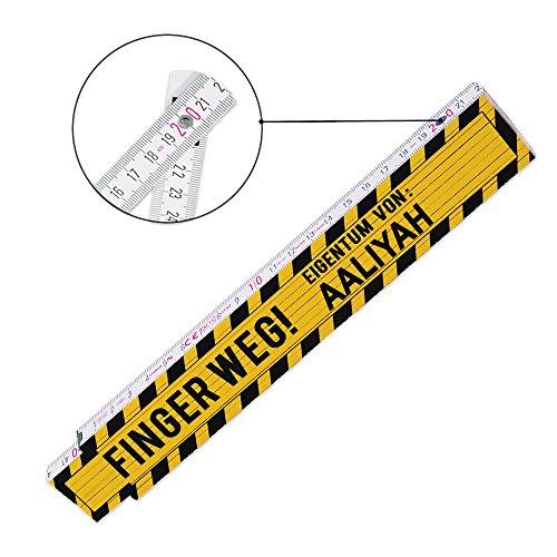 Zollstock mit Namen und schönem Motiv – Finger weg … - | Metermaß | Glieder-Maßstab mit Namen bedruckt