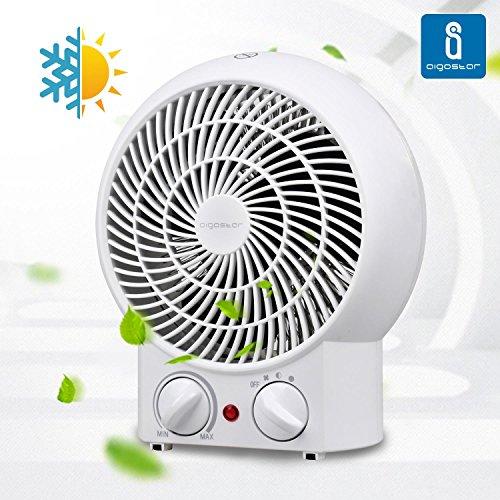 Aigostar Airwin White 33IEK - Calefactor de aire con termostato regulable, potencia...