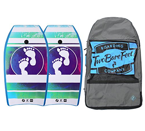 33 in Bodyboard Bundle - 2 x Bodyboards + Tragetasche, Blue / Blue / Blue