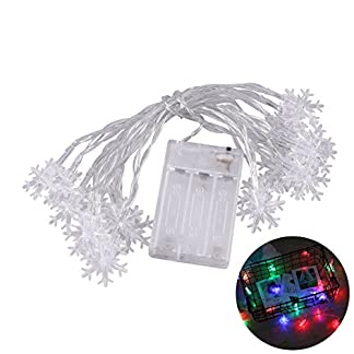 LEDMOMO-Lichterkette-10ft-20LED-Schneeflocke-Fee-Lichterketten-fr-Weihnachten-Schlafzimmer-Garten-Party-Bicolor