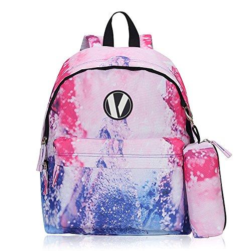 Imagen de veevan  escolar  bolsa de la bolsa 1 lápiz  niño ocio rosa claro 3pc  alternativa