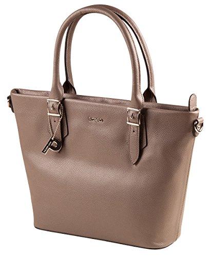 PICARD Sugar 8735 Tasche Damen Henkeltasche Echt Leder Handtasche 24x21x9 cm (BxHxT), Farbe:Rot Stone