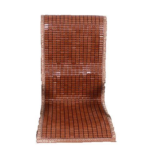 Hussen, Auflagen&Überwürfe Kissen Bambuspolsterung Bürostuhl Sommermatte Sitz Chefsessel Mit Rückenlehnenkissen Kissenauflage Carbonized Bambusblatt (Color : Brown, Size : 130cm*50cm*5cm)