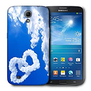 Snoogg Clouds Heart Designer Protective Back Case Cover For Samsung Galaxy Mega 6.3