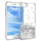 KOUYI iPhone 6S/6 Hülle Glitzer, Luxus Fließen Flüssig Glitzer 3D Bling Dynamisch Silikon Weich Flexible TPU Kreativ Shiny Glitter Cover Beschützer für Apple iPhone 6S / iPhone 6 (Silber)