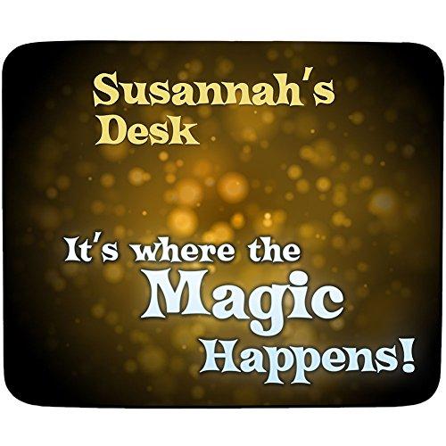 Schreibtisch-Susannah'It's, wenn die Magic Happens-Wunschname-Premium-Mousepad (5 mm Dicke) (Susannah Magic)
