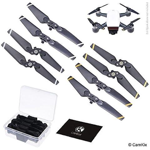 Propeller für DJI Spark - 2 Sets (8 Blätter) - Mit praktischer Aufbewahrungsbox - Quick Release zusammenklappbare Flügel - Fluggetestetes Design - Unverzichtbares Accessoire für Ihre DJI Spark Drohne