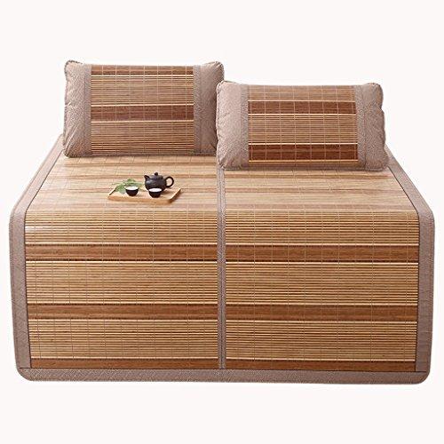 Liuyu · Matelas frais Mahjong d'été mat 1.5m Matelas dortoir simple étudiant 0.9 Mètre 1.2 Matelas bambou double face Mat d'été 1.8m lit (taille : 1.5 m (5 ft) bed)