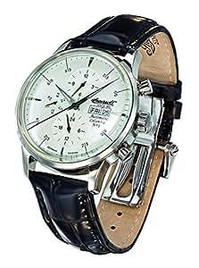 Ingersoll - IN2819WH - Columbia - Montre - Automatique - Analogique - Homme - Cadran - Blanc - Bracelet - Cuir - Noir