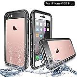 NewTsie iPhone 6/6s Plus Wasserdicht Stoßfest Hülle, IP68 Zertifiziert Schutzhülle Staubdicht mit Eingebautem Displayschutzfolie für Apple iPhone 6/6s Plus 5.5 inch (T-Schwarz)
