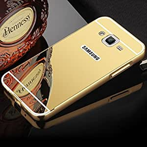Carla Luxury Metal Bumper + Acrylic Mirror Back Cover Case for Samsung J3 + Digital LED Watches Unisex Silicone Rubber Touch Screen by carla Store.