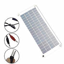 lzndeal caricatore solare della batteria del pannello solare 12V a 5V 20W per l' alimentazione di energia di Camper Barca Auto