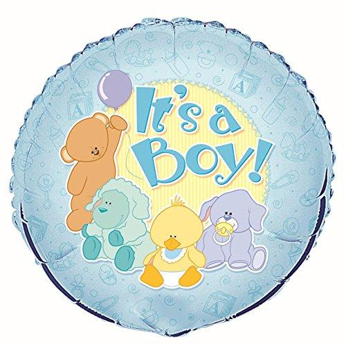 Unique Party Supplies 45,7cm Folie Baby Tiere IT 'S A Boy Baby Dusche Ballon