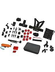 AC Mount Set Sport XL - 47 pièces Kit de fixation sport XL pour caméras d'action Rollei et GoPro