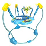 Baby Jumperoo, Blue Baby Jumper Forest Jumperoo Baby Learning Walker Stand Jumper Activity