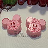 OEM SYSTEMS 2PCS/set Mickey Mouse & Minnie Cookie cutter MOULD3D tridimensionale Cartoon biscotti stampo DIY strumenti per cottura
