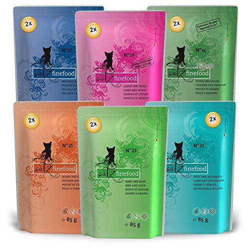 Catz finefood, Cibo per Gatti, multiconfezione, 2 Sacchetti N.15-N.25, Confezione da 12 (12 x 85 g)