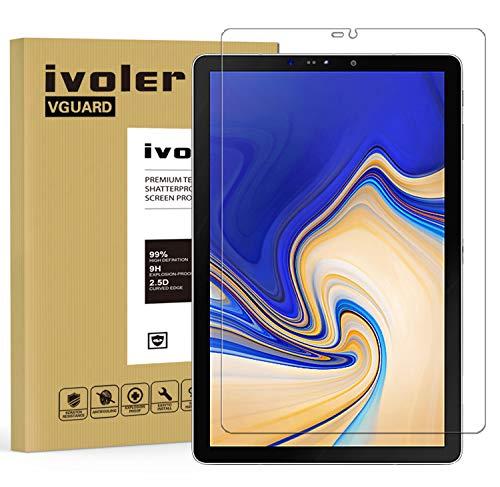 iVoler Vetro Temperato Compatibile con Samsung Galaxy Tab S4 10.5 Pollici (T830 / T835), Pellicola Protettiva, Protezione per Schermo - Transparent