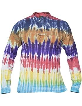 Camisas casual de algodón, diseño tenido, estilo hippy