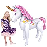 Magical Unicorn AirWalker Foil Balloon Cuerpo completo