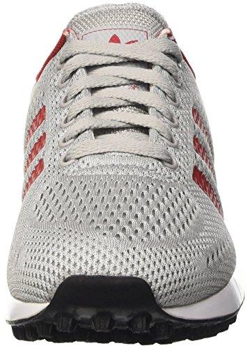 adidas la Trainer Em, Scarpe da Ginnastica Basse Unisex – Adulto Grigio (Clear Onix/Power Red/Ftwr White)