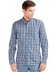 GAP Mens Casual Shirt (142329200010_32190712000_Small_Comet Blue)