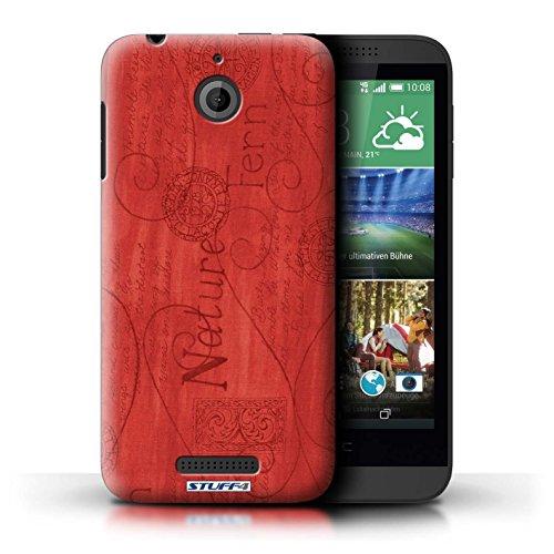 Kobalt® Imprimé Etui / Coque pour HTC Desire 510 / Rose conception / Série Motif Nature Rouge