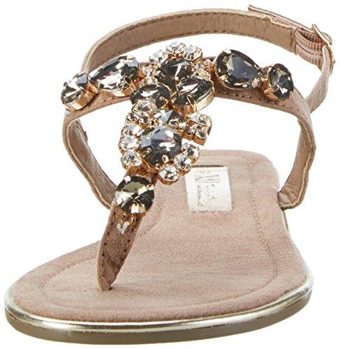 XTI Damen Taupe Microfiber Ladies Sandals Offene Braun (Taupe)