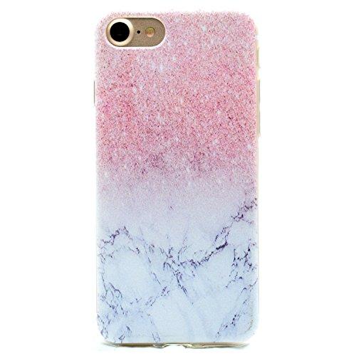 iphone 6 marmor hülle, LuckyW TPU Handyhülle für Apple iPhone 6 6s(4.7 zoll) Soft Silikon Tasche Transparent Schale Clear Klar Hanytasche Durchsichtig Rückschale Ultra Slim Thin Dünne Schutzhülle Weic Marmor