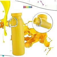 Rubility® Pieghevole Portatile del Silicone 450 ml Bottiglia di acqua --- Giallo