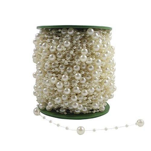ourwarm-10m-pearls-bead-chain-fishing-line-garland-wedding-flower-craft-diy-decoration-accessory-ivo