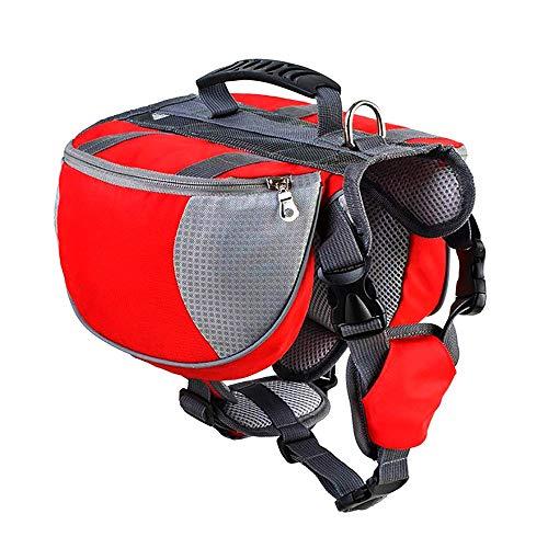 ZNN Hund Rucksack - 2 in 1 tragbare Haustier Sattel Tasche Rucksack Hund aus Tasche, abnehmbare Tasche verwandelt Sich sofort in einen Drahtgeschirr, sicher reflektierendes Design, geeignet für Hunde