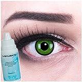 MeralenS A0264Black Green lentilles de contact avec entretien avec récipient sans correction, 1er Pack (1x 2pièces)