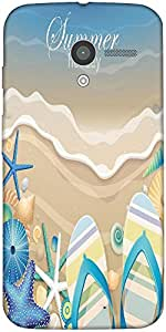 Snoogg Summer Holiday Case Cover For Motorola X / Moto X 2Nd Generation