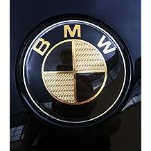 Emblemas de fibra de carbono para capó y maletero, diseño de logotipo de BMW, aptos para BMW Serie 3, E46, E90, E91, M3 y M-Tech