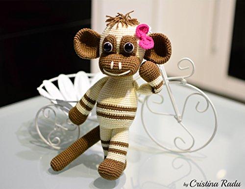 Plüsch Affe, einzigartiges Geschenk für Mädchen, verspieltes Spielzeug -
