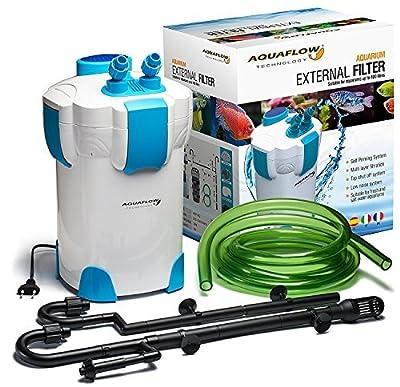 Aquaflow Technology® - AEF-302 Système de filtre externe pour Aquarium - 3 phases. Média filtrant gratuity