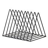 Touchmark Porte Magazine en métal Stockage de Support d'étagère Livres Porte journaux -pour Salle de Bains, Le Bureau,Salon-Triangle Size 26 * 17.8 * 18.5cm (Noir)