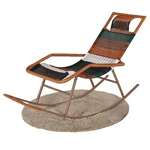 Axdwfd Liegestuhl Schaukelstuhl Outdoor Wicker Lounge Chair Erwachsene Senioren Casual Mittagspause Mittagspause Lounge-Sessel Balkon Garten Camping Terrasse Faule Sonnenliegen Lounge-Stühle