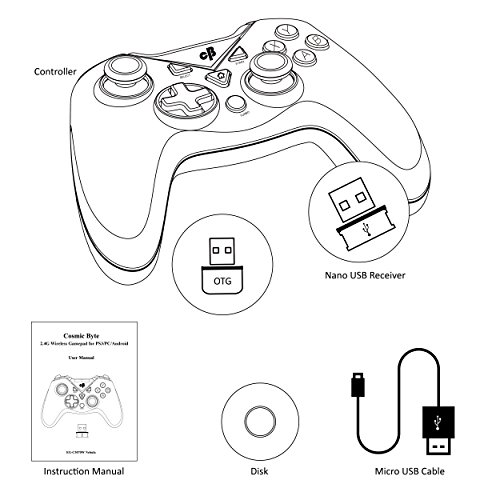 Cosmic Byte C3070w Nebula 2 4g Wireless Gamepad For Pcps3android