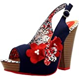 Ruby Shoo Women's Novak Textile Peep Toes