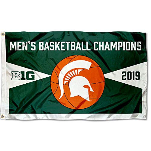 College Flags and Banners Co. Michigan State Spartans 2019 Herren Big Ten Basketball Champions Flagge Big Ten Flags