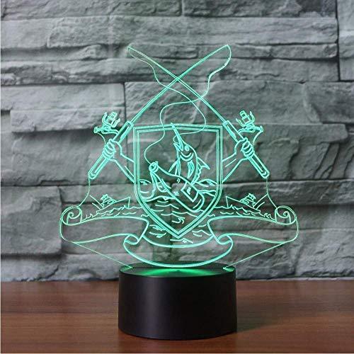3D Usb Visuelle Led Nachtlicht Touch Button Bunte Angelwerkzeuge Modellierung Luminaria Kinder Geschenke Tischlampe Schlaf Leuchte