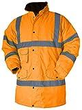 Baratec Contractor - Giacca parka catarifrangente, taglie S fino alla 6XL, colore arancione, arancione