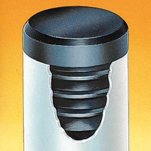 THOMAFLUID Lamellenstopfen aus LDPE - rund, D: 32 mm, h: 11,5 mm, schwarz, 25 Stück