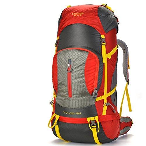 Sincere® Package / Sacs à dos / Portable / Ultraléger Outdoor sac d'escalade / sac Voyage épaules / 80L tactique / camping en plein air randonnée sac à dos rouge 80L