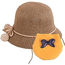 YOPINDO Cappello di Paglia per Bambini Cappello per Berretti da Spiaggia  per Bambina con Cappello 3581054d8286