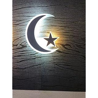 Phonepart LED Nachtlich Mond und Stern AY Yildiz Türkei Lampe Design Motiv Türkiye