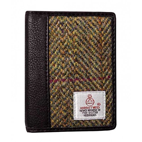 90091f0b4c50 Ladies or Gents Harris Tweed Document Wallet In a Traditional Black ...