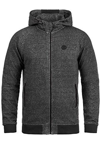 BLEND Jonas Herren Kapuzenjacke Zip Hoodie Sweatjacke aus 100% Baumwolle, Größe:M, Farbe:Black (70155)